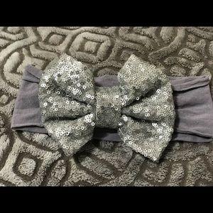 Other - Silver Sequin Nylon Headband